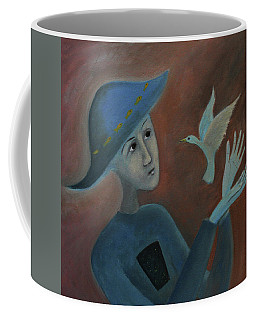 Coffee Mug featuring the painting Hello To You by Tone Aanderaa