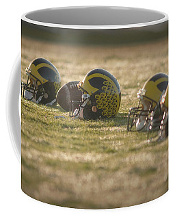 Helmets In Golden Dawn Sunlight Coffee Mug