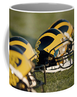Helmets On The Field Coffee Mug