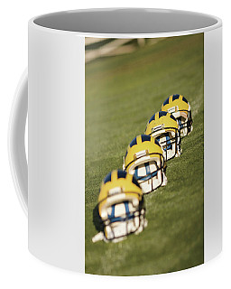 Helmets On Yard Line Coffee Mug