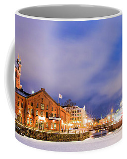 Coffee Mug featuring the photograph Helsinki By Night by Delphimages Photo Creations