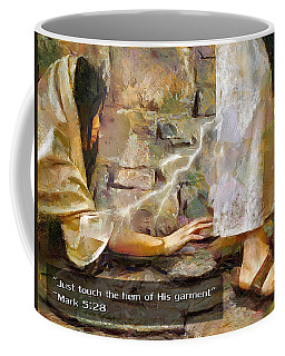 Hem Of His Garment And Text Coffee Mug