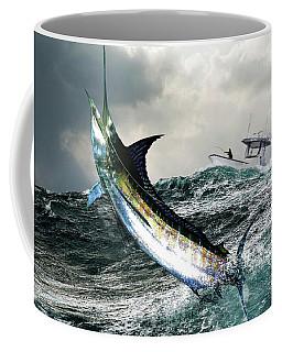Hemingway's Marlin, The Old Man And The Sea, Fish On Coffee Mug