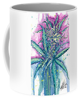 Coffee Mug featuring the painting Hemp Blossom by Ashley Kujan