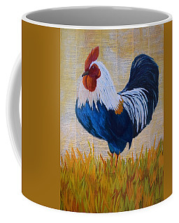 Coffee Mug featuring the painting Henhouse Boss by Nancy Jolley