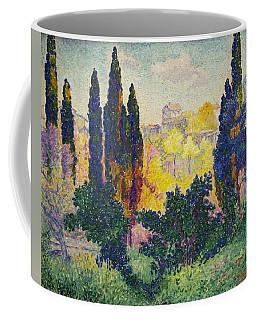 Henri Edmond Cross French Les Cypres A Cagnes Coffee Mug