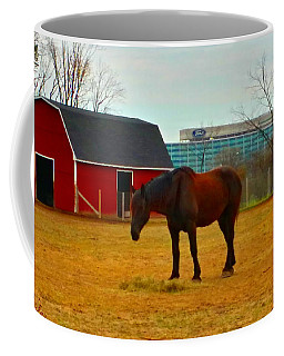 Coffee Mug featuring the photograph Henry Ford Museum Barn by Michael Rucker