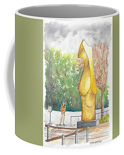 Henry Moore's Bronze Form In The Getty Center, Los Angeles, California Coffee Mug