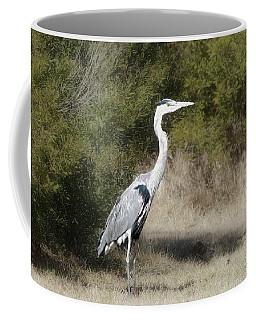 Coffee Mug featuring the photograph Henry The Heron by Benanne Stiens
