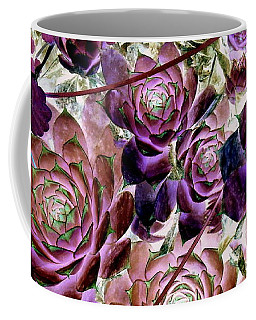 Hens And Chicks - Plum Rose Coffee Mug by Janine Riley