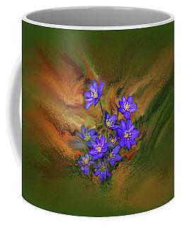 Hepatica Nobilis Painterly #h4 Coffee Mug