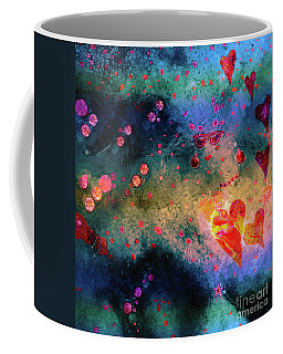 Coffee Mug featuring the painting Her Heart Shines Through by Claire Bull