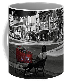 Coffee Mug featuring the photograph Her Red Cart by Lorraine Devon Wilke