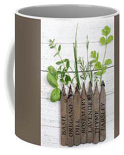 Coffee Mug featuring the photograph Herb Garden by Rebecca Cozart