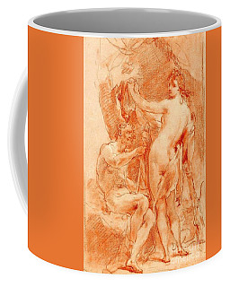 Coffee Mug featuring the painting Hercules And Omphale by Pg Reproductions