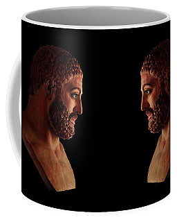 Coffee Mug featuring the mixed media Hercules - Brunettes by Shawn Dall