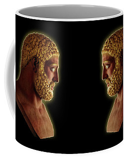 Coffee Mug featuring the mixed media Hercules - Golden Gods by Shawn Dall