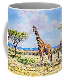 Herd Of Giraffe Coffee Mug