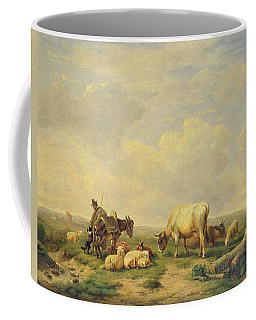 Herdsman And Herd Coffee Mug
