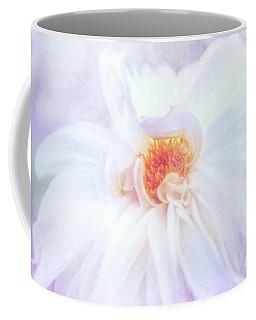 Here Comes The Bride - A Beautiful White Dahlia Coffee Mug
