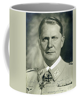 Herman Goering Autographed Photo 1945 Color Added 2016 Coffee Mug