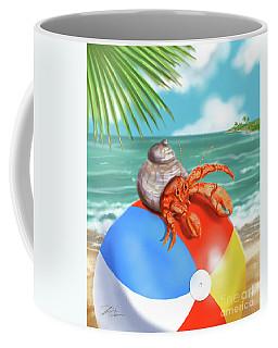 Hermit Crab On A Beachball Coffee Mug