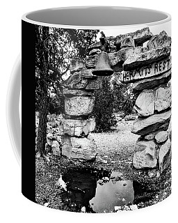 Hermit's Rest, Black And White Coffee Mug