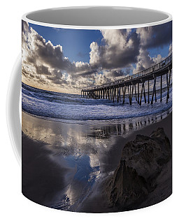 Hermosa Beach Pier Coffee Mug by Ed Clark