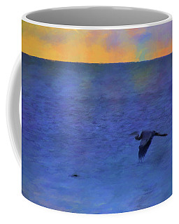 Heron Across The Sea Coffee Mug