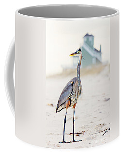 Heron And The Beach House Coffee Mug