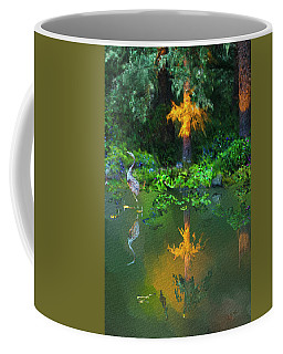 Coffee Mug featuring the digital art Heron Art by Dale Stillman