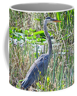 Heron By The Riverside Coffee Mug by Judy Kay