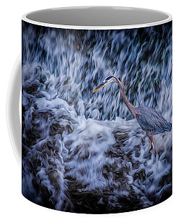 Coffee Mug featuring the photograph Heron Falls by Rikk Flohr