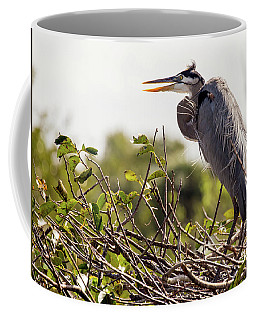 Heron In Its Nest Coffee Mug
