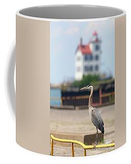 Heron In The Harbor Coffee Mug