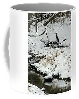 Heron In Winter Coffee Mug