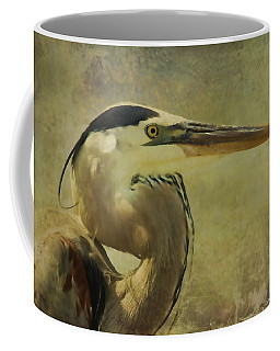 Heron On Texture Coffee Mug