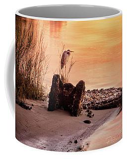 Heron On The Rocks Coffee Mug by Phil Mancuso