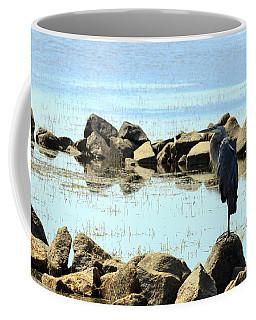 Heron On The Rocks Coffee Mug