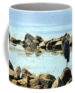 Heron On The Rocks Coffee Mug