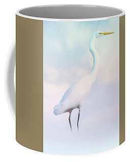 Heron Or Egret Stance Coffee Mug by Joseph Hollingsworth
