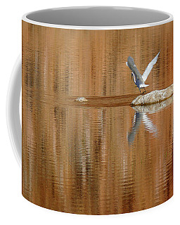 Heron Tapestry Coffee Mug by Evelyn Tambour