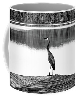 Heron The Dock Of The Bay Coffee Mug