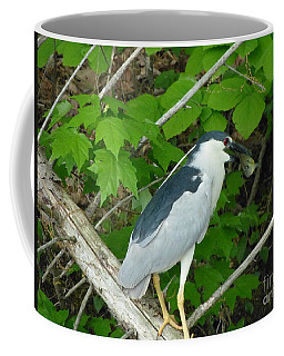 Heron With Dinner Coffee Mug