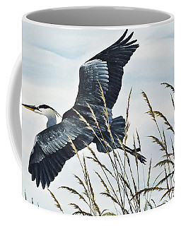 Herons Flight Coffee Mug