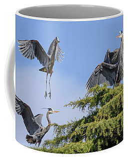 Herons Mating Dance Coffee Mug