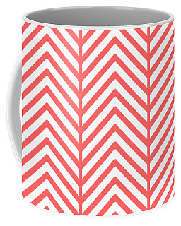 Coffee Mug featuring the digital art Herringbone Pattern - Choose Your Color by Mark E Tisdale