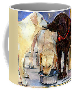 Coffee Mug featuring the painting Hershey Kiss by Molly Poole