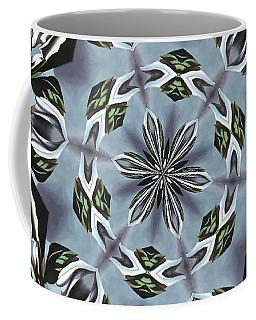 Hexagon Of Jungle Leaves And Tropical Flowers Coffee Mug
