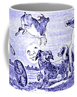 Hey Diddle Diddle The Cat And The Fiddle Nursery Rhyme Coffee Mug by Marian Cates